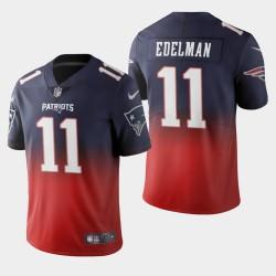 New England Patriots 11 Julian Edelman Couleur crash Gradient Navy Jersey hommes
