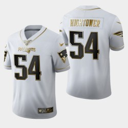 New England Patriots Men 54 Dont'a Hightower 100 Saison Golden Edition Jersey - Blanc