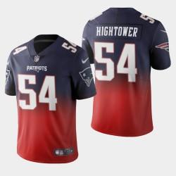 New England Patriots 54 Dont'a Hightower couleur crash dégradé Marine Jersey hommes