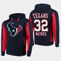 Fanatiques Branded Hommes Houston Texans 32 Tyrann Mathieu équipe Iconic Sweat à capuche - Marine