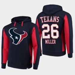 Fanatiques Houston Texans Branded Hommes 26 Lamar Miller équipe Iconic Sweat à capuche - Marine