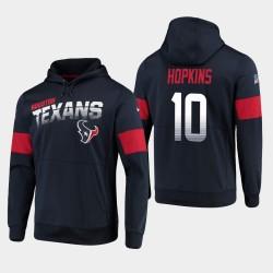 Houston Texans Hommes 10 DeAndre Hopkins 100e Saison Sideline Logo équipe Sweat à capuche - Marine