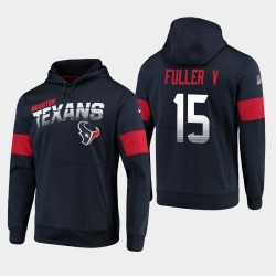 Houston Texans 15 hommes Will Fuller V 100e saison Sideline équipe Logo Sweat à capuche - Marine