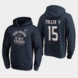 Houston Texans hommes Will Fuller V 2019 AFC Couverture Division Sud Champions Deux Sweat à capuche - Marine