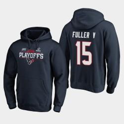 Houston Texans hommes Will Fuller V 2019 NFL Playoffs Bound Chip Tir Sweat à capuche - Marine
