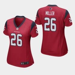 Houston Texans féminin 26 Lamar Miller Jeu Jersey - Rouge