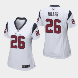 Houston Texans féminin 26 Lamar Miller Jeu Jersey - Blanc