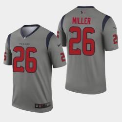 Houston Texans Hommes 26 Lamar Miller Inverted Legend Jersey - Gris