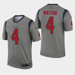 Houston Texans Men 4 Deshaun Watson Inverted Legend Jersey - Gris