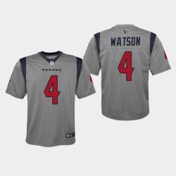 Jeunes Texans de Houston 4 Deshaun Watson 2019 Inversé Jeu Jersey - Gris