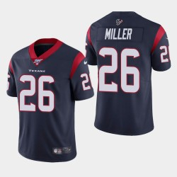 Houston Texans Hommes 26 Lamar Miller 100e saison de vapeur Limited Jersey - Marine