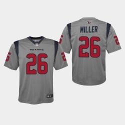 Houston Texans 26 jeunes Lamar Miller 2019 Inversé Jeu Jersey - Gris