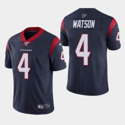 Houston Texans Men 4 Deshaun Watson 100e saison de vapeur Limited Jersey - Marine
