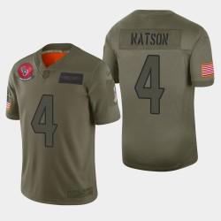 Houston Texans Men 4 Deshaun Watson 2019 Salut au service Camo Jersey limitée
