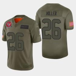 Houston Texans Hommes 26 Lamar Miller 2019 Salut au service Camo Jersey limitée