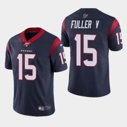 Houston Texans 15 hommes Will Fuller V 100ème saison de vapeur Limited Jersey - Marine