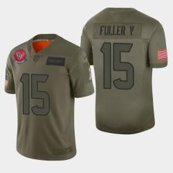 Houston Texans 15 hommes Will Fuller V 2019 Salut au service Camo Jersey limitée
