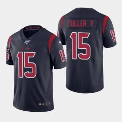 Houston Texans 15 hommes Will Fuller V 100e saison couleur Rush Jersey - Marine