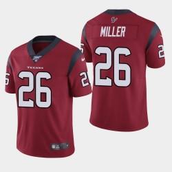 Houston Texans Hommes 26 Lamar Miller 100e saison de vapeur Limited Jersey - Rouge