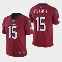Houston Texans 15 hommes Will Fuller V 100ème saison de vapeur Limited Jersey - Rouge