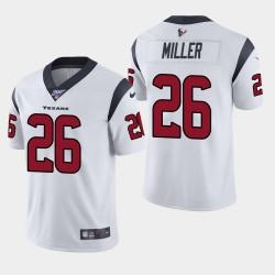 Houston Texans Hommes 26 Lamar Miller 100e saison de vapeur Limited Jersey - Blanc