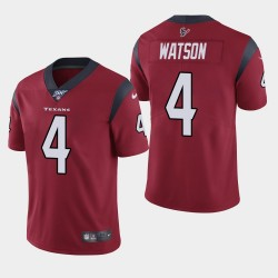 Houston Texans Men 4 Deshaun Watson 100e saison de vapeur Limited Jersey - Rouge