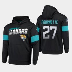 Hommes Jacksonville Jaguars 27 Leonard Fournette 100 e saison Sideline équipe Logo Sweat à capuche - Noir