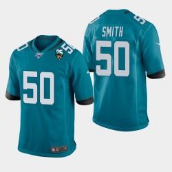 Hommes Jacksonville Jaguars 50 Telvin Smith 25e anniversaire Jersey Jeu - Teal