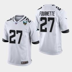 Hommes Jacksonville Jaguars 27 Leonard Fournette 25e anniversaire du jeu Jersey - Blanc