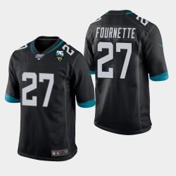 Jacksonville Jaguars 27 hommes Leonard Fournette 25e anniversaire du jeu Jersey - Noir