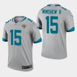 Hommes Jacksonville Jaguars 15 Gardner Minshew Inverted Legend Jersey - Argent