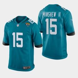 Hommes Jacksonville Jaguars 15 Gardner Minshew Jersey Jeu - Teal