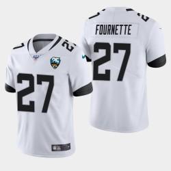 Jacksonville Jaguars Hommes 27 Leonard Fournette 100e saison de vapeur Limited Jersey - Blanc