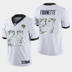 Jacksonville Jaguars Leonard Fournette Salut à Jersey pratique service - Blanc