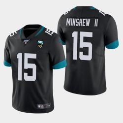 Hommes Jacksonville Jaguars 15 Gardner Minshew 100ème saison de vapeur Limited Jersey - Noir