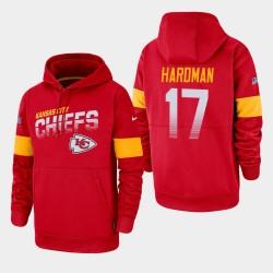 Chefs 100e Saison Mecole Hardman Sideline équipe Logo Sweat à capuche - Rouge