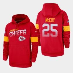 Kansas City Chiefs 25 hommes LeSean McCoy 100e saison Sideline équipe Logo Sweat à capuche - Rouge