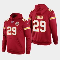 Kansas City Chiefs 29 hommes Kendall Fuller 100ème saison jeu Hoodie - Rouge
