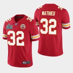 Kansas City Chiefs Hommes 32 Tyrann Mathieu Super Bowl LIV vapeur Limited Jersey - Rouge