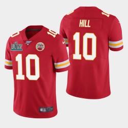 Kansas City Chiefs Hommes 10 Tyreek Hill Super Bowl LIV vapeur Limited Jersey - Rouge