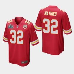 Kansas City Chiefs Hommes 32 Tyrann Mathieu Super Bowl LIV jeu Jersey - Rouge