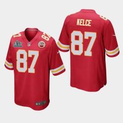 Chefs Hommes Kansas City 87 Travis Kelce Super Bowl LIV jeu Jersey - Rouge