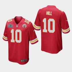 Ville Hommes Chiefs de Kansas 10 Tyreek Hill Super Bowl LIV jeu Jersey - Rouge