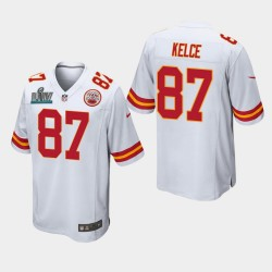 Chefs Hommes Kansas City 87 Travis Kelce Super Bowl LIV jeu Jersey - Blanc