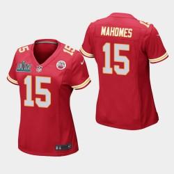 Chefs de Femmes Kansas City 15 Patrick Mahomes Super Bowl LIV jeu Jersey - Rouge