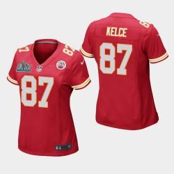 Femmes Kansas City Chiefs 87 Travis Kelce Super Bowl LIV jeu Jersey - Rouge