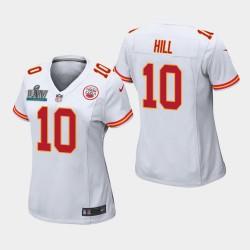 Chefs des femmes de Kansas City 10 Tyreek Hill Super Bowl LIV jeu Jersey - Blanc