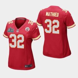 City Chiefs de Kansas femmes 32 Tyrann Mathieu Super Bowl LIV jeu Jersey - Rouge