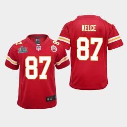 Jeunes Kansas City Chiefs 87 Travis Kelce Super Bowl LIV jeu Jersey - Rouge