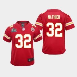Jeunes Kansas City Chiefs 32 Tyrann Mathieu Super Bowl LIV jeu Jersey - Rouge